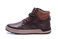 Мужские зимние кожаные ботинки Yalasou Coffee, фото 1