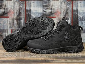 Мужские ботинки зимние Columbia Firecamp (мех) (черные)