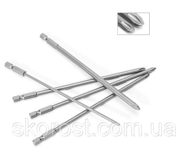 Набор бит 5 шт, 150 мм, крестовые, легированная сталь