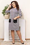 Шикарна жіноча трикотажна сукня в розмірах:50,52,54,56., фото 3
