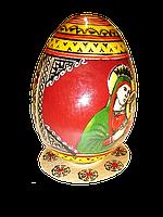 Расписное яйцо на тарелочке