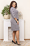 Шикарна жіноча трикотажна сукня в розмірах:50,52,54,56., фото 7