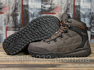 Мужские ботинки зимние Columbia Firecamp (мех) (коричневые)