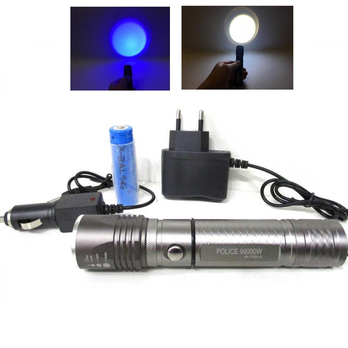 Ліхтарик з ультрафіолетом тактичний POLICE BL-7030-2