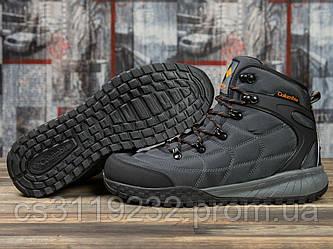 Мужские ботинки зимние Columbia Firecamp (мех) (серые)