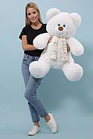 Плюшевый Мишка Луи высота 125 см. цвет белый