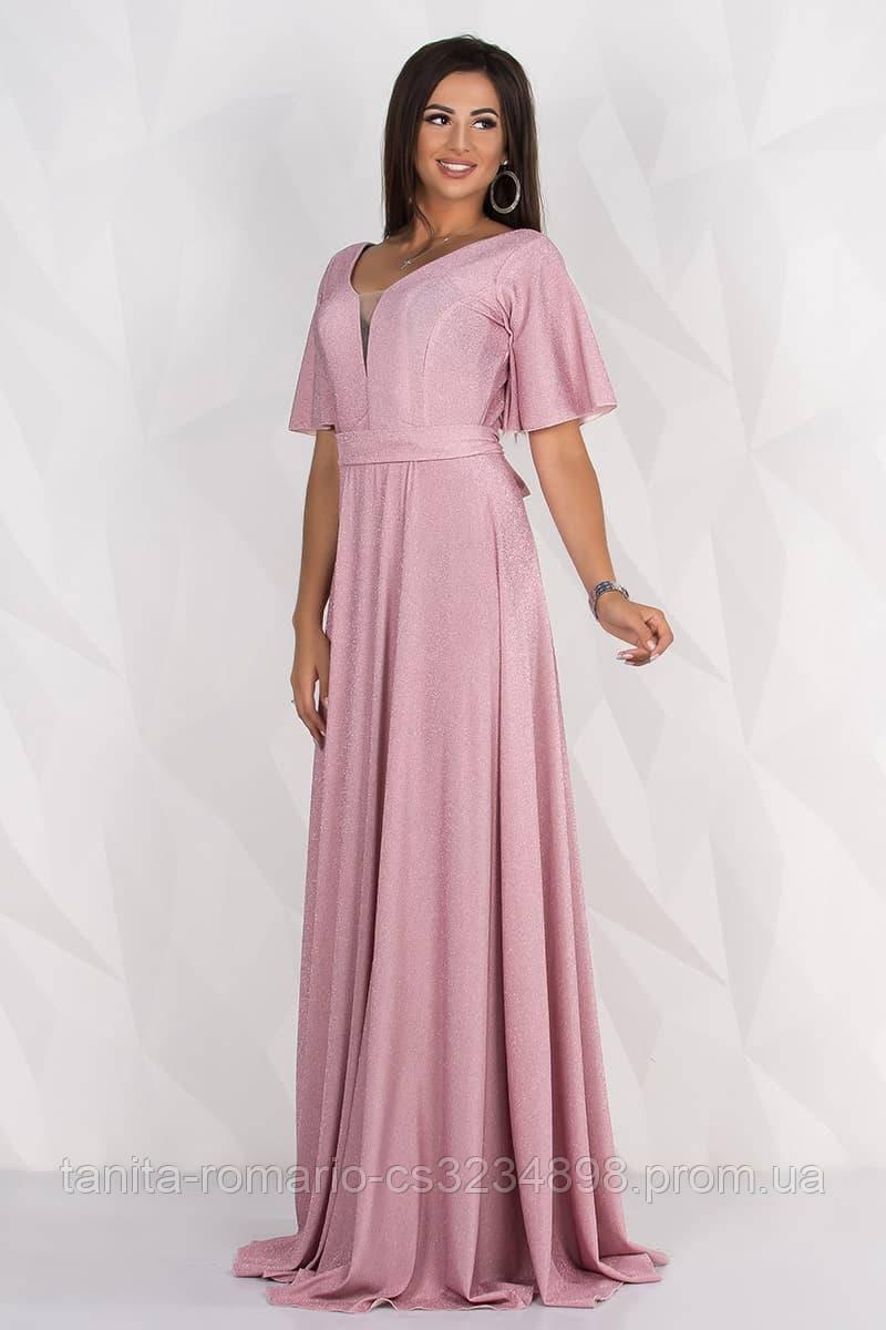 Вечернее платье 8133e Розовый