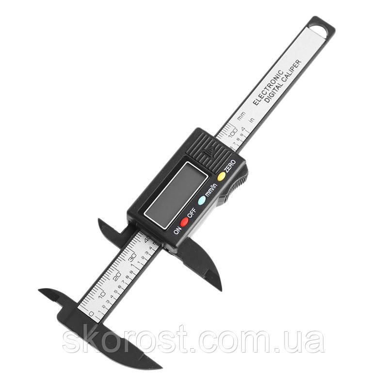 Цифровий штангенциркуль з міцного пластику, довжина 100 мм