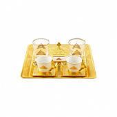 Набор чашек для кофе Sena Османский золотистый на 2 персоны