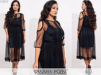 Жіноче плаття двійка ЕТ/-7302 - Пляшковий, фото 1