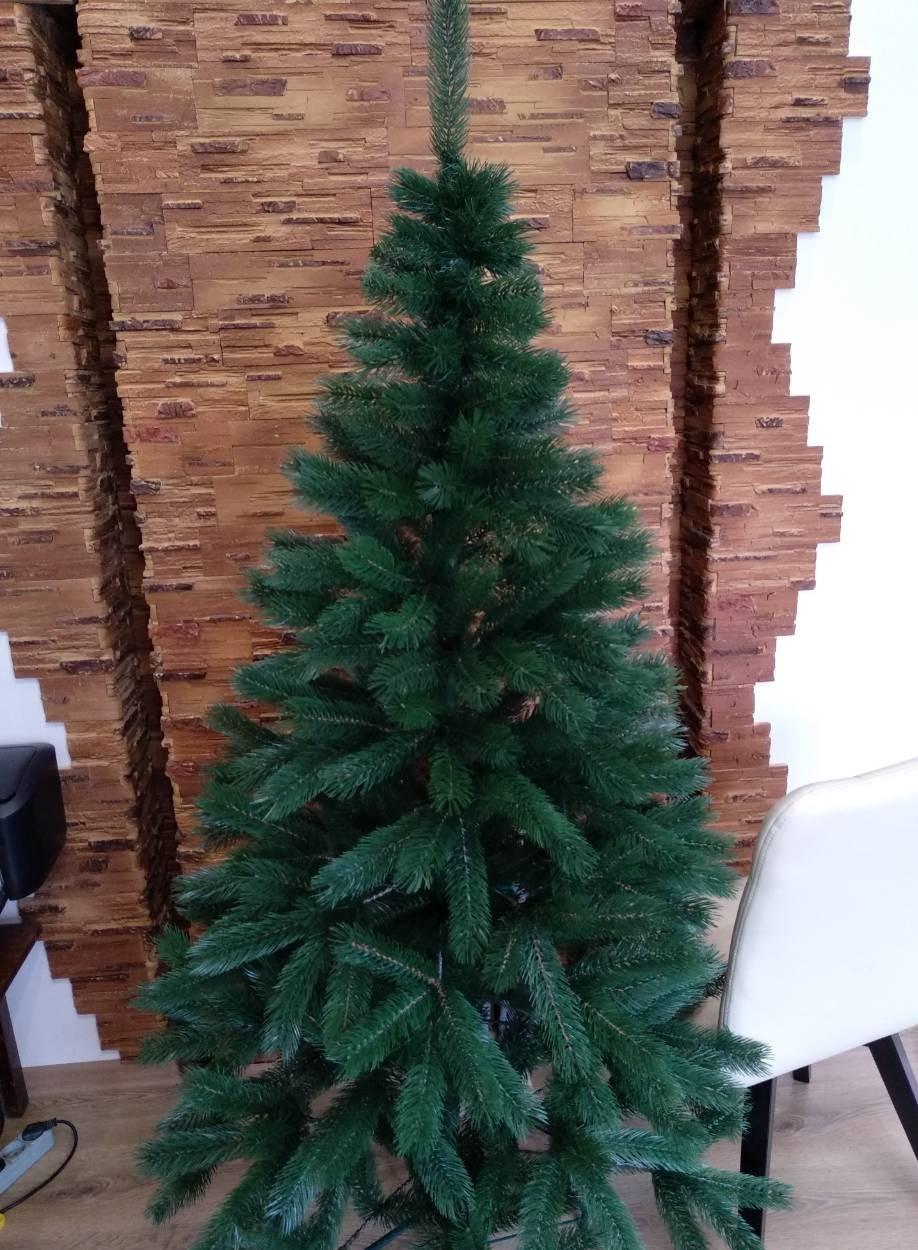 Ялина 230 см Буковельскаяя зелена штучна новорічна високої якості ,матеріал голок не горить
