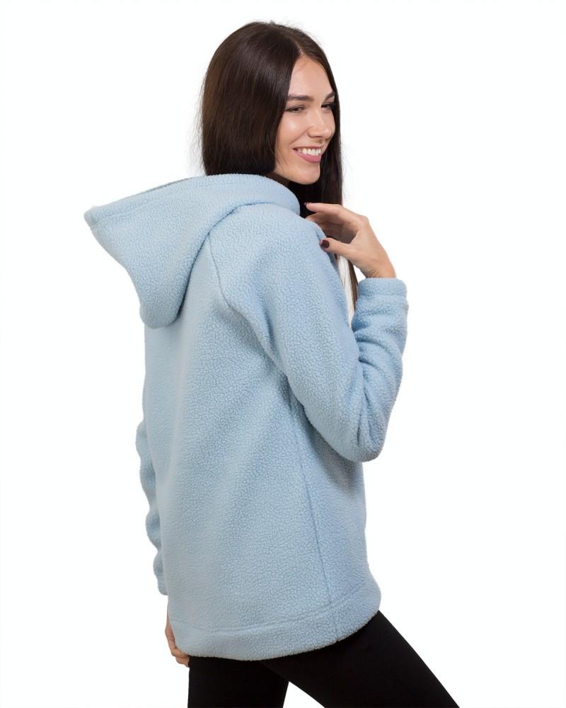 Теплая женская кофта с капюшоном