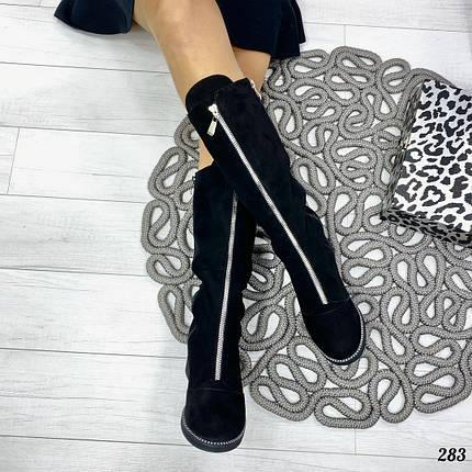 Замшевые сапоги с мехом, фото 2