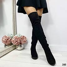 Черные сапоги на каблуках, фото 3