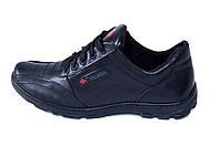 Мужские кожаные кроссовки ZK (реплика)