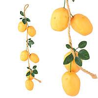Подвеска связка декоративная 55 см молодой картофель пенопласт 8 см (43104.001)