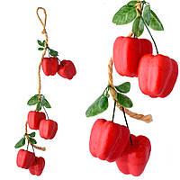 Подвеска связка декоративная 53 см перец сладкий пенопласт 6 см (43104.002)