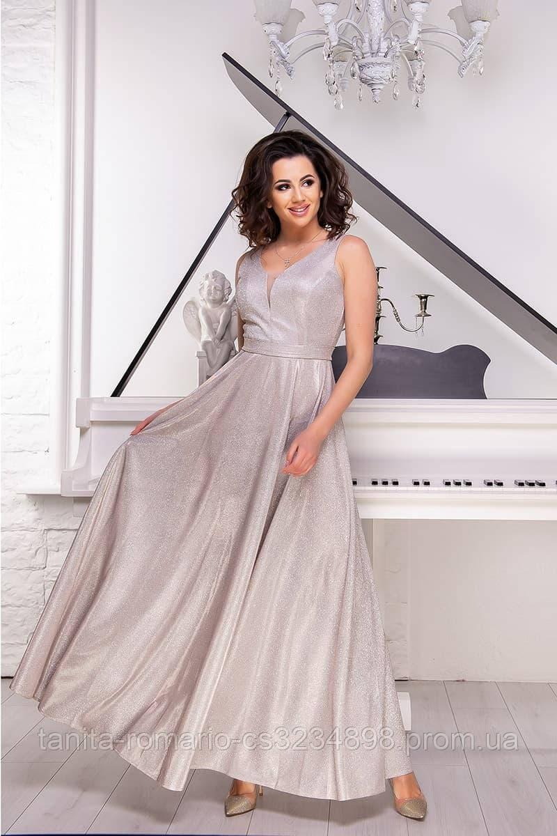 Вечернее платье 8135e Бежевый