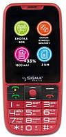 "Мобильный телефон Sigma mobile Comfort 50 Elegance3 Dual Sim Red; 2.8"" (320x240) TN / клавиатурный моноблок / MediaTek MTK6261D / microSD до 32 ГБ /"