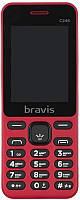 """Мобильный телефон Bravis C246 Fruit Dual Sim Red; 2.4"""" (320х240) TN / клавиатурный моноблок / Spreadtrum SC6531E / ОЗУ 32 МБ / 32 МБ встроенной +"""
