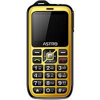 "Мобильный телефон Astro B200 RX Dual Sim Black/Yellow; 2"" (320х240) TN / клавиатурный моноблок / ОЗУ 32 МБ / 64 МБ встроенной + microSD до 16 ГБ /"