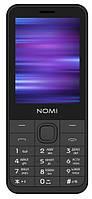 """Мобильный телефон Nomi i282 Dual Sim Grey; 2.8"""" (320x240) TN / клавиатурный моноблок / ОЗУ 32 МБ / 32 МБ встроенной + microSD / камера 2 Мп / 2G (GSM)"""