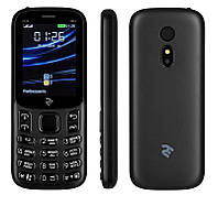 "Мобильный телефон 2E E240 2019 Dual Sim Black (680576169990); 2.4"" (320х240) TN / кнопочный моноблок / ОЗУ 32 МБ / 32 МБ встроенной + microSD до 16 ГБ"