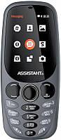 """Мобильный телефон Assistant AS-201 Dual Sim Gray; 2.4"""" (320х240) TN / клавиатурный моноблок / Spreadtrum SC6533 / ОЗУ 64 МБ / 64 МБ встроенной +"""
