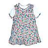 Комплект ясельный сарафан и футболка в цветочек 98 размер R180418