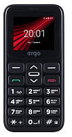 "Мобильный телефон Ergo F186 Solace Dual Sim Black; 1.77"" (160х128) TN / клавиатурный моноблок / ОЗУ 32 МБ / 32 МБ встроенной + microSD до 16 ГБ /"
