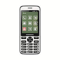 "Мобильный телефон Assistant AS-204 Dual Sim Black; 2.8"" (320х240) TN / клавиатурный моноблок / ОЗУ 32 МБ / 32 МБ встроенной + microSD до 16 ГБ /"
