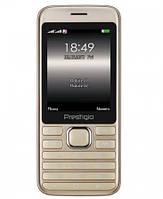 """Мобильный телефон Prestigio Grace A1 1281 Dual Sim Gold (PFP1281DUOGOLD); 2.8"""" (320х240) TN / клавиатурный моноблок / ОЗУ 32 МБ / 32 МБ встроенной +"""