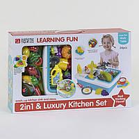 Детская кухня с аксессуарами - 34 аксессуара, включая продукты и кухонные принадлежности
