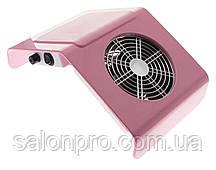 Настольная маникюрная вытяжка пылесос Nail Dust Collector BQ-858-2A мини пластиковая розовая