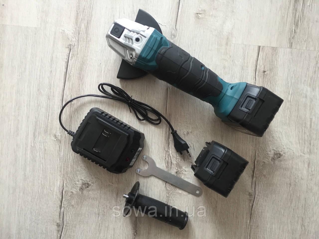 ✔️ Болгарка аккумуляторная Al-Fa ALCAG125 | 21V   + ПОДАРОК