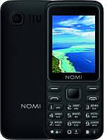 """Мобильный телефон Nomi i2401 Dual Sim Black; 2.4"""" (320x240) TN / клавиатурный моноблок / ОЗУ 32 МБ / 32 МБ встроенной + microSD до 32 ГБ / камера 0.08"""