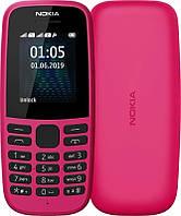 """Мобильный телефон Nokia 105 2019 Single Sim Pink; 1.77"""" (160x128) TN / клавиатурный моноблок / ОЗУ 4 МБ / 4 МБ встроенной / без камеры / 2G (GSM) / ОС"""