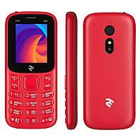 "Мобильный телефон 2E E180 2019 Dual Sim Red (680576170057); 1.77"" (160х128) TN / кнопочный моноблок / ОЗУ 32 МБ / 32 МБ встроенной + microSD до 16 ГБ"
