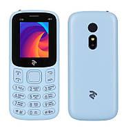 "Мобильный телефон 2E E180 2019 Dual Sim City Blue (680576170040); 1.77"" (160х128) TN / кнопочный моноблок / ОЗУ 32 МБ / 32 МБ встроенной + microSD до"