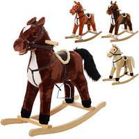 Качалка MP 0082 лошадка, 76-28-68см, 4цв, звук (цоканье-ржание),шелит ртом,на бат-ке