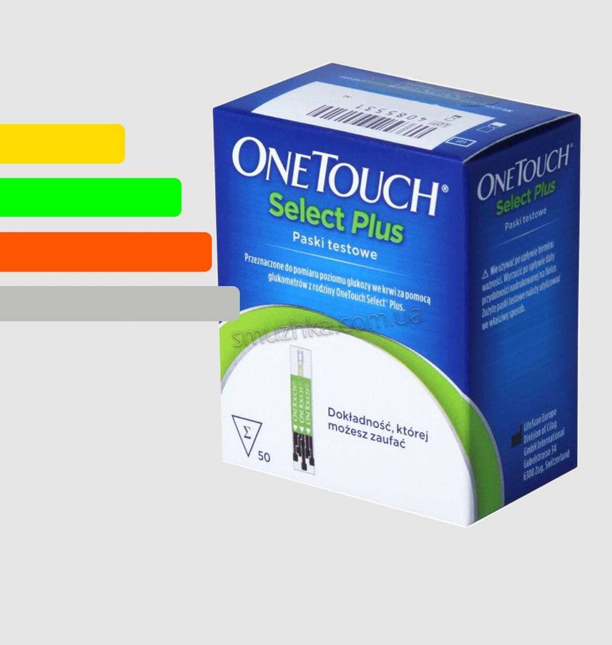 Тест-полоски Ван Тач Селект ПЛЮС 50 шт. - One Touch Select PLUS #50
