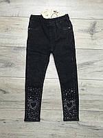 Утепленные джинсы на меху для девочек. 4- 6 лет.