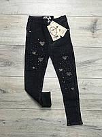 Утепленные джинсы на меху для девочек. 4 года.