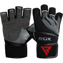 Перчатки для фитнеса RDX Pro Lift Black S, фото 3