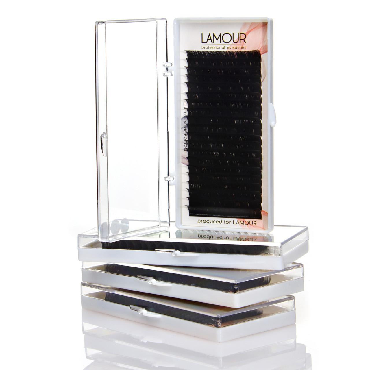Вії Lamour 0,85 D 9 мм (Чорні)