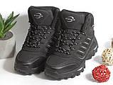 0368 Спортивные ботинки BONA из натуральной кожи, с мехом. Черные. 38 размер - стелька 24,5 см, фото 2
