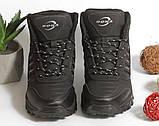 0368 Спортивные ботинки BONA из натуральной кожи, с мехом. Черные. 38 размер - стелька 24,5 см, фото 5