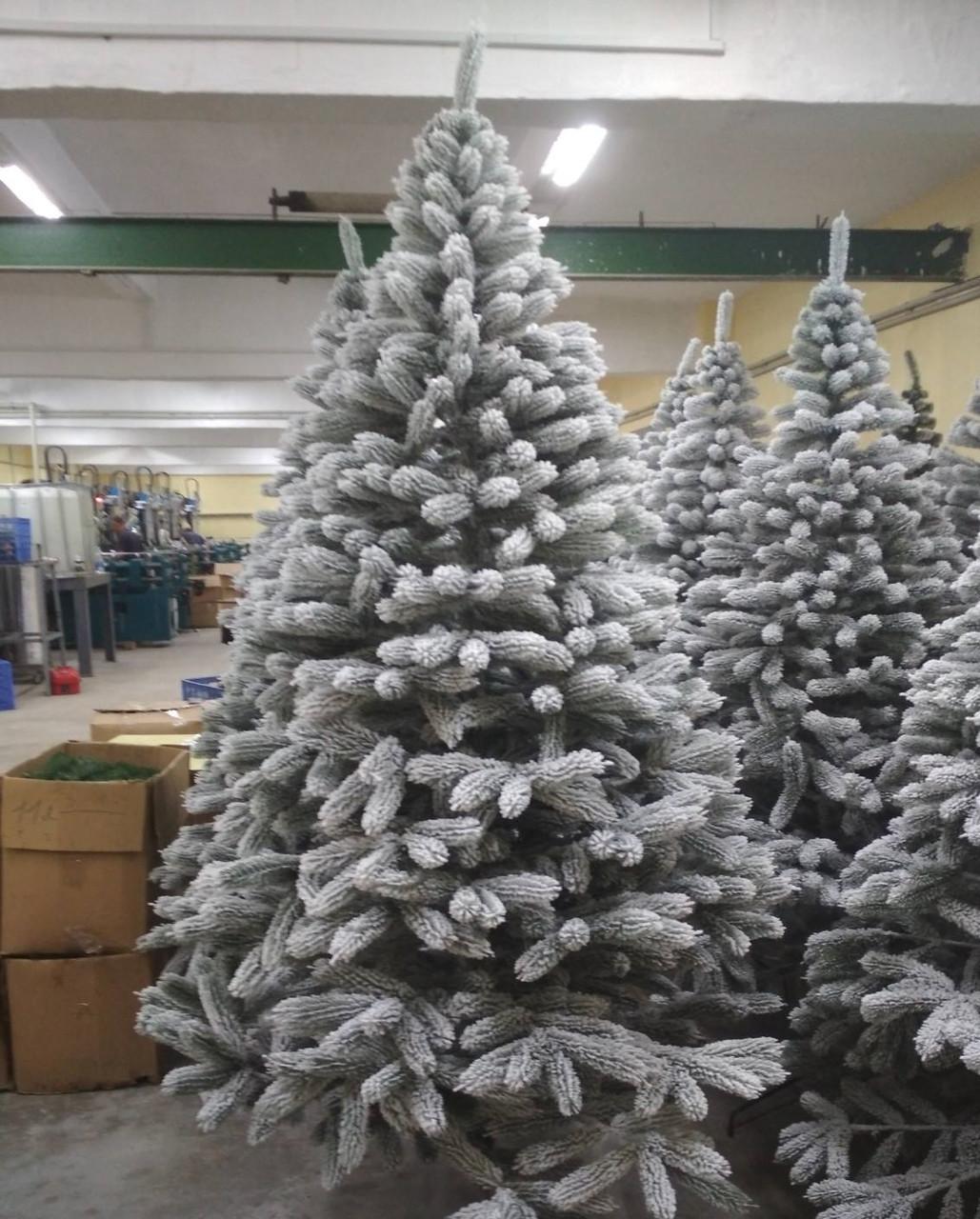 Ель 210см искуственная Буковельскаяя Заснеженная новогодняя  высокого качества ,материал иголок не горит