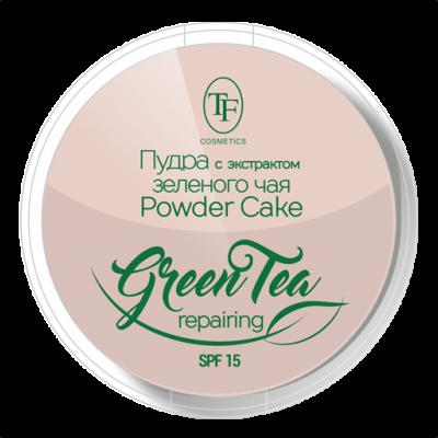 Пудра для лица Triumf Compact Powder Green Tea тон 01 фарфоровый