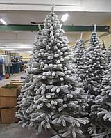 Ялина 230см штучна Буковельскаяя В снігу новорічна високої якості ,матеріал голок не горить